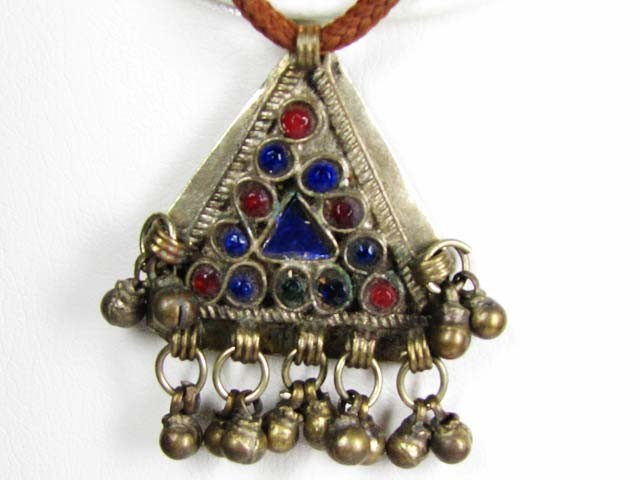 TRADITIONAL TIBETAN SILVER NECKLACE  69 CTS TR 846