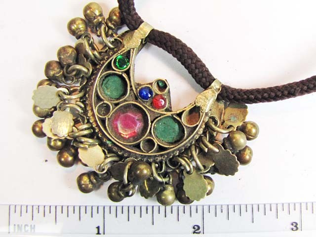 TRADITIONAL TIBETAN SILVER NECKLACE  91  CTS TR 847