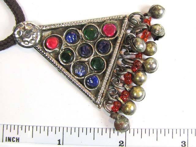 TRADITIONAL TIBETAN SILVER NECKLACE   75 CTS TR 848