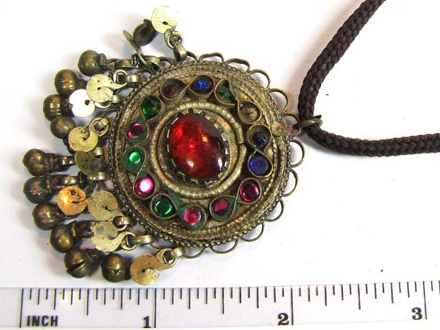 TRADITIONAL TIBETAN SILVER NECKLACE 69  CTS TR 850