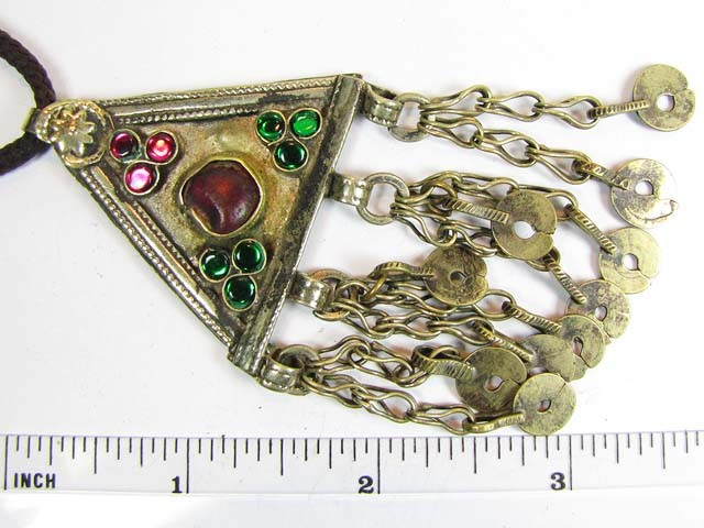 TRADITIONAL TIBETAN SILVER NECKLACE 86  CTS TR 852