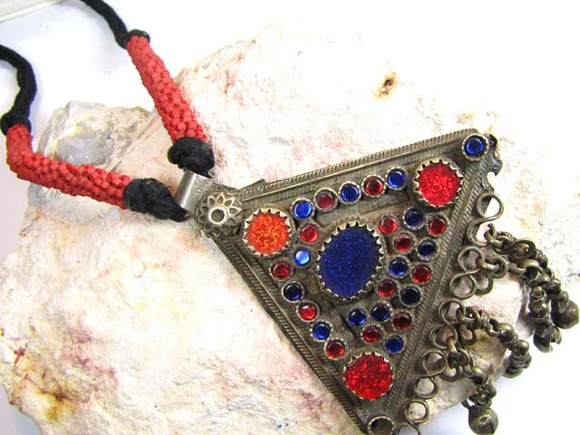 TRADITIONAL TIBETAN SILVER NECKLACE  191 CTS TR 832