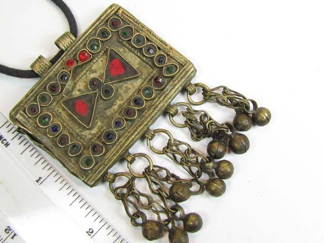 TRADITIONAL TIBETAN SILVER NECKLACE 149  CTS TR 865