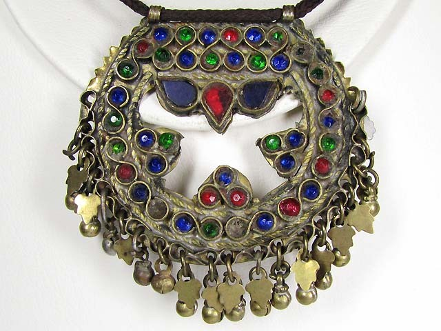 TRADITIONAL TIBETAN SILVER NECKLACE  169 CTS TR 888