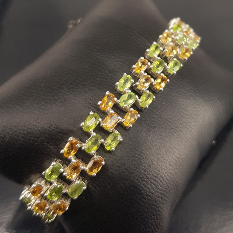 Natural Peridot with Citrin Bracellet