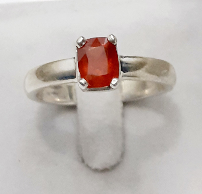 Natural Spessartite  925 Silver Ring