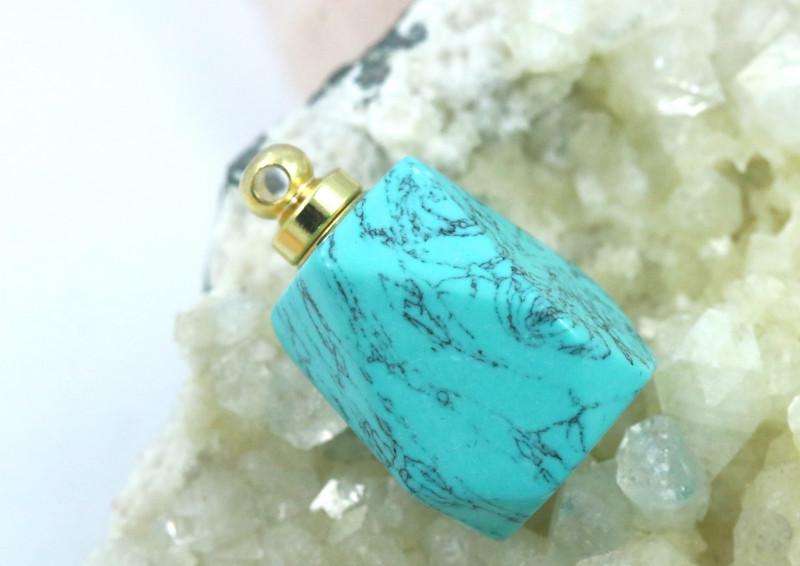 Turquoise Faceted  Gemstone Perfume Bottle AHA 250