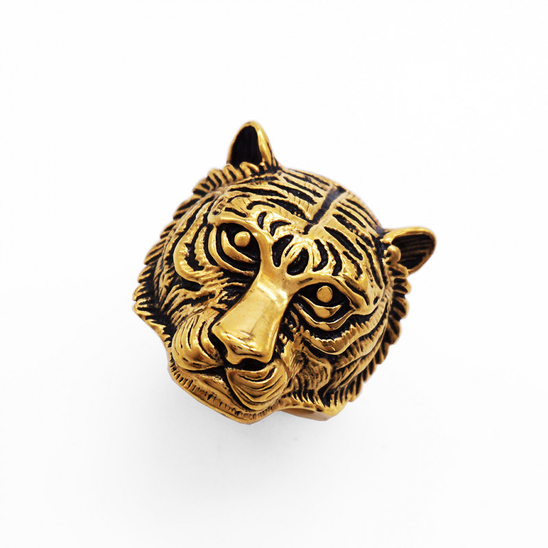 Tiger Ring -Gold plated Titanium size 8 code CCC 1347