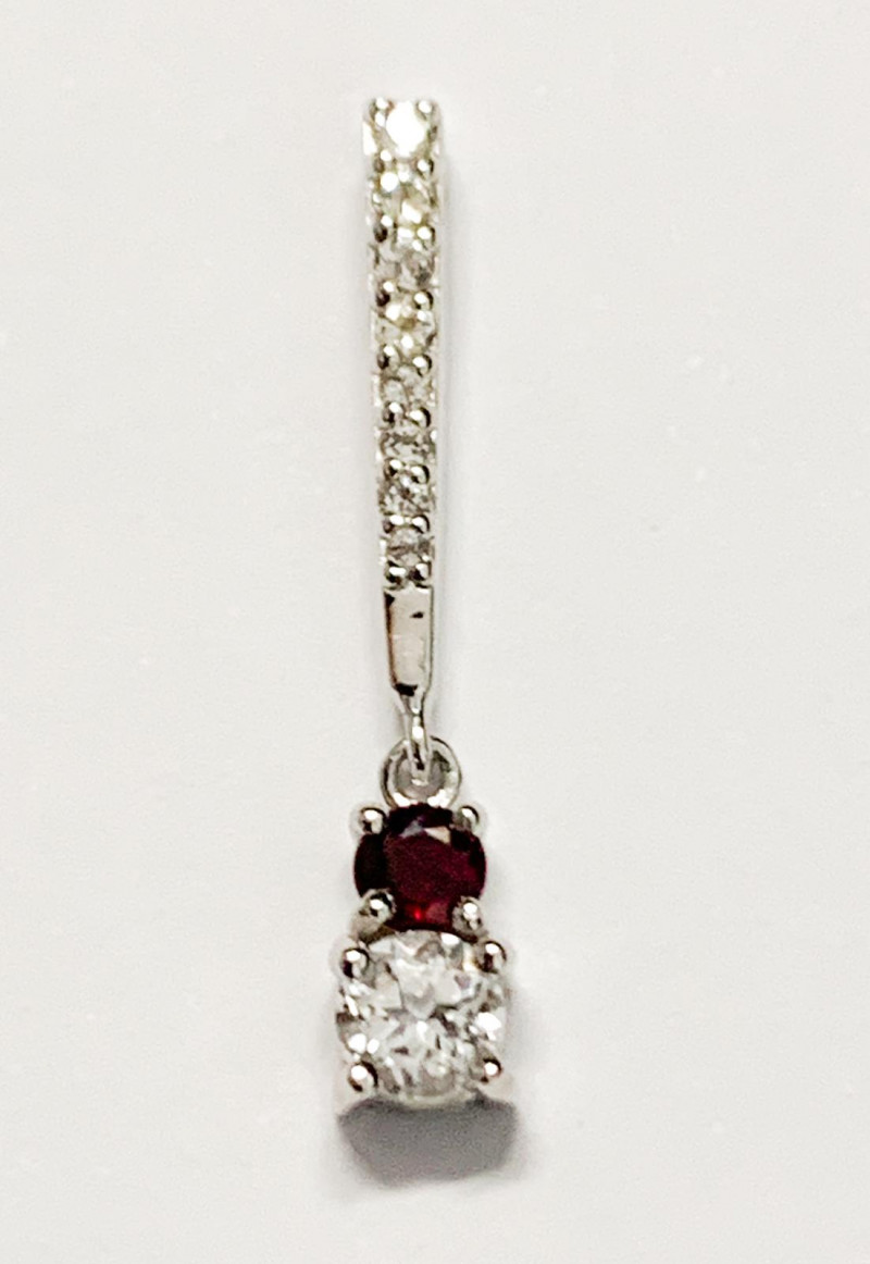 Natural Rhodolite 1.58 Ct And Topaz ~ Silver Pendants