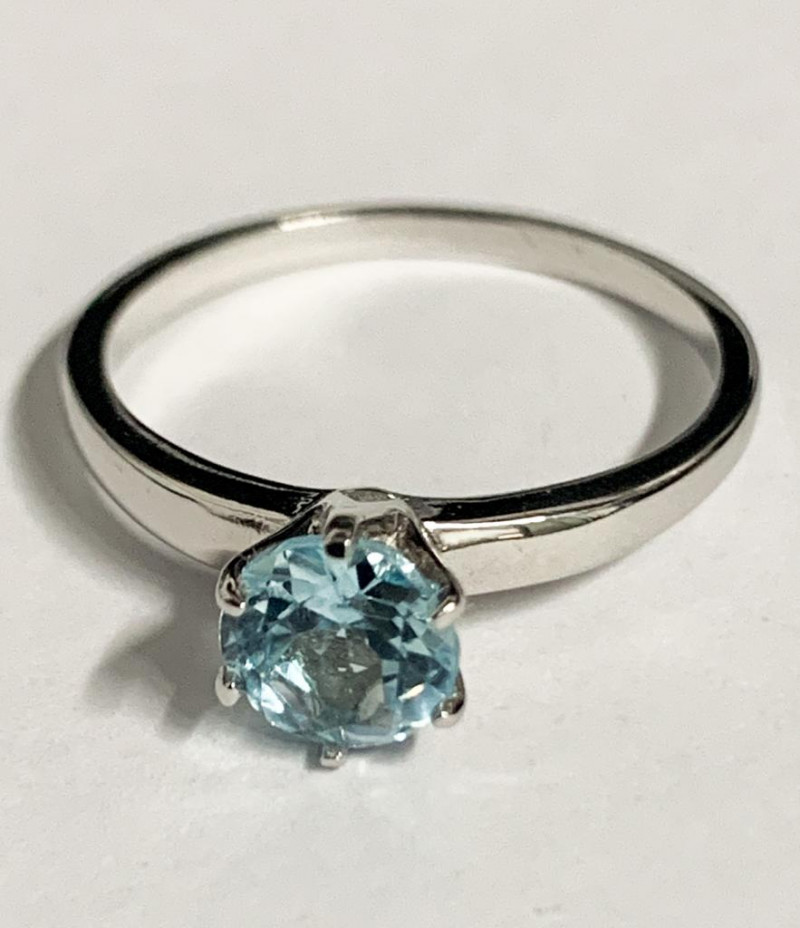 Stylish Natural Fancy Color Stone And Topaz Ring ~ Silver