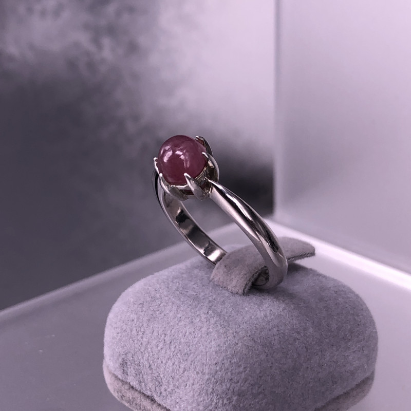 20.0cts Natural Star Ruby 925 Silver  Ring