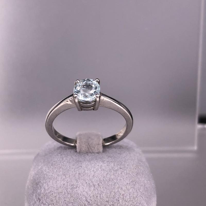 13.08cts 925 Silver  Natural Aquamarine Silver Ring