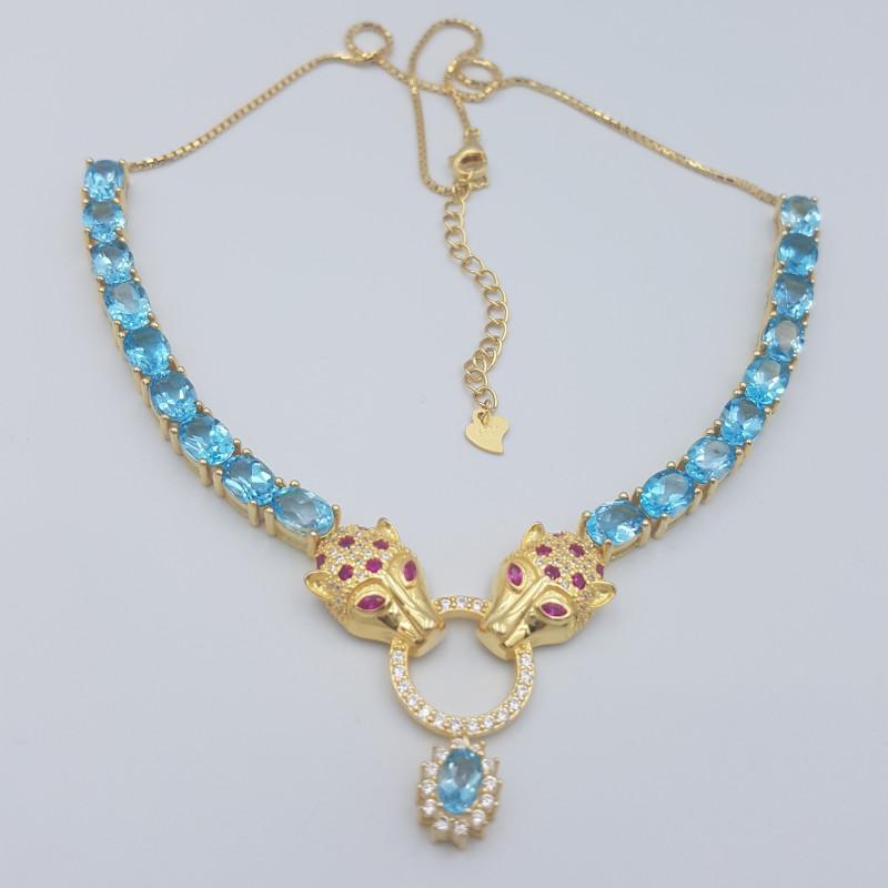 Swiss Blue Topaz Necklace