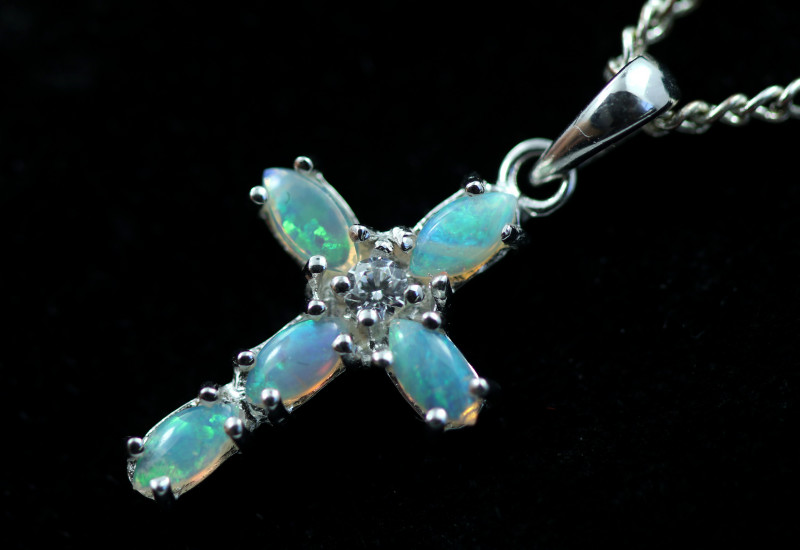 Cute Stylish Crystal Opal Pendant CCC 3125
