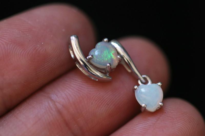 Cute Stylish Lovers Heart Crystal Opal Pendant CCC 3157
