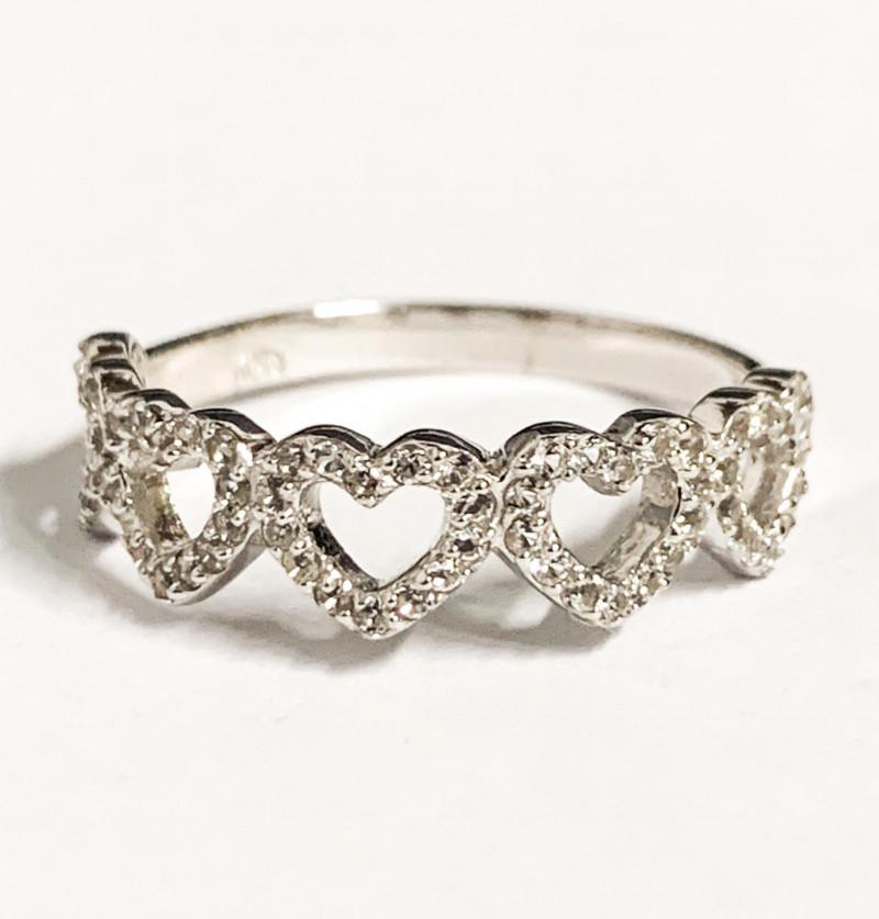 Stylish Natural Topaz  ~ 925 Silver Ring