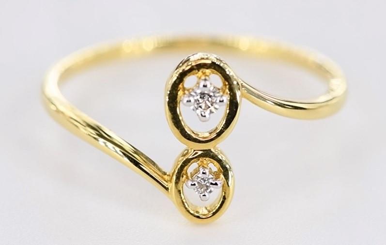 SPLENDID DIAMONDS IN 18K GOLD RING SIZE 7