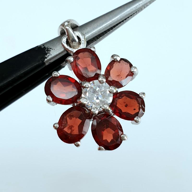 Natural Garnet Pendant.