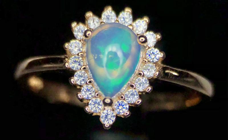 Bedazzling-Opal Ring-CZ 925