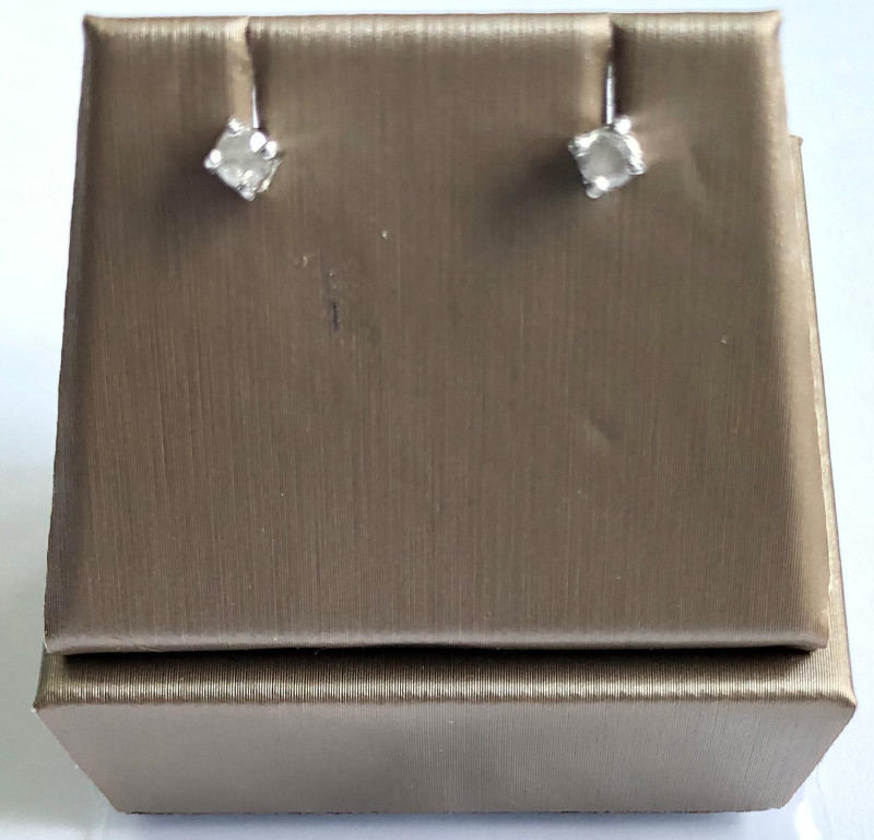 Stylish Natural Diamond 0.20 Cts  Silver Earring