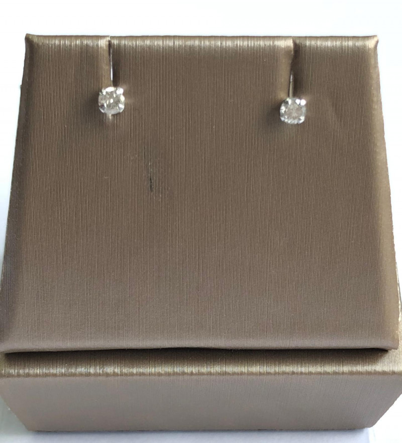 Stylish Natural Diamond 0.18 Cts  Silver Earring