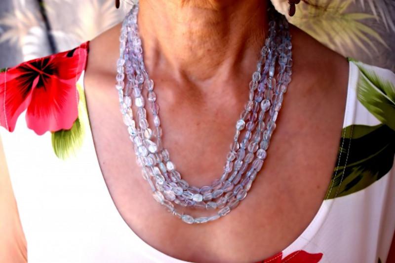 429.0 Tcw. Aquamarine 5 Strand Necklace - Lovely