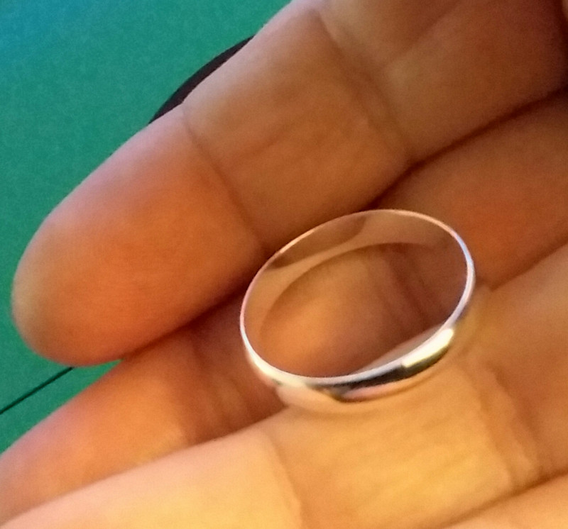 STERLING SILVER 925 RING / BAND - SIZE 8 ATTRACTIVE COMMITMENT BAND