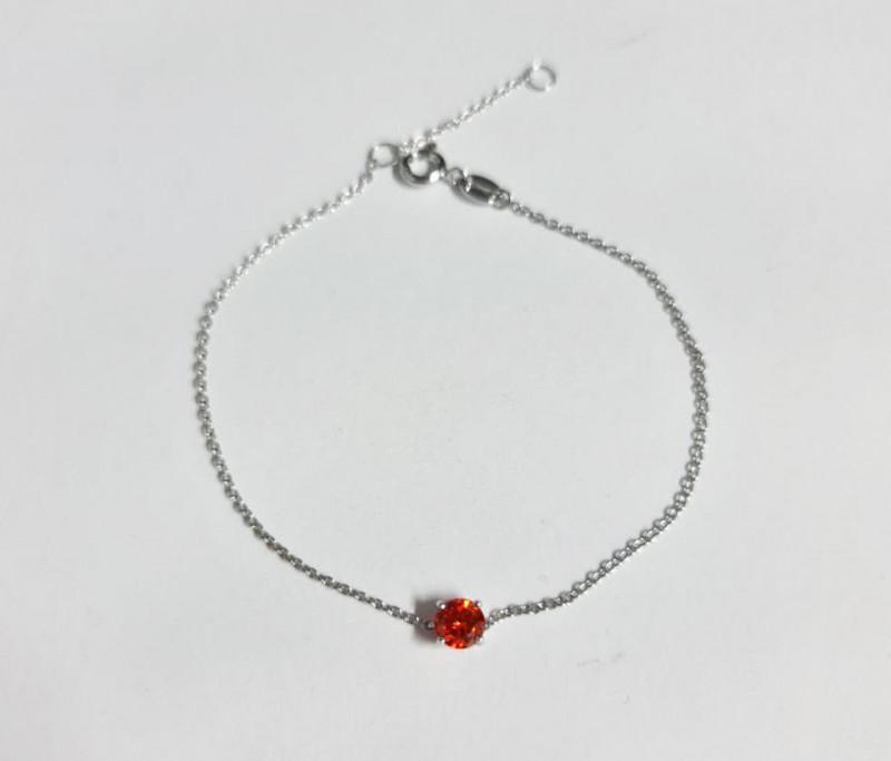 *NoReserve*Stylish Natural Orange Red Silver  Bracelet