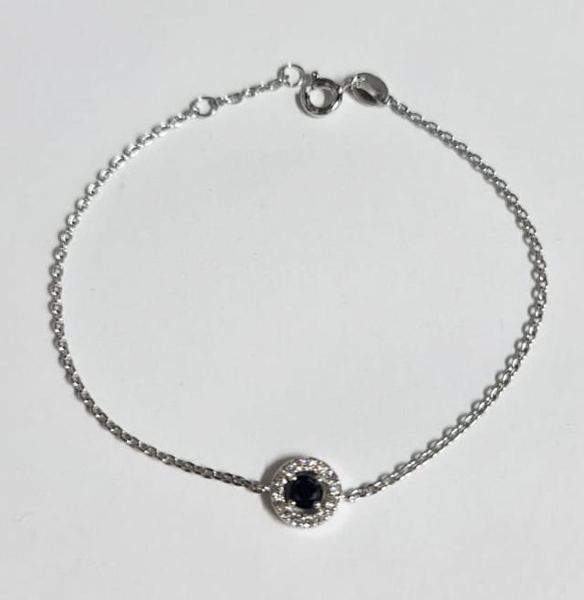 Stylish Natural Black Silver  Bracelet