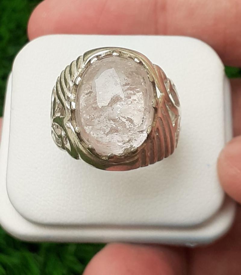 Natural Morganite 925 Silver Ring