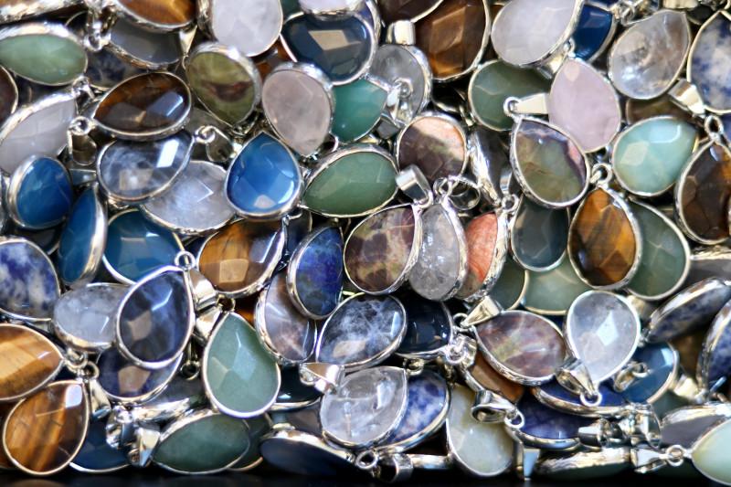 Wholesale 10 pcs popular Faceted Gemstone Pendants AHA 795