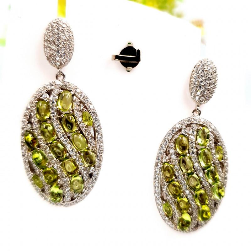 Natural Peridot Earrings