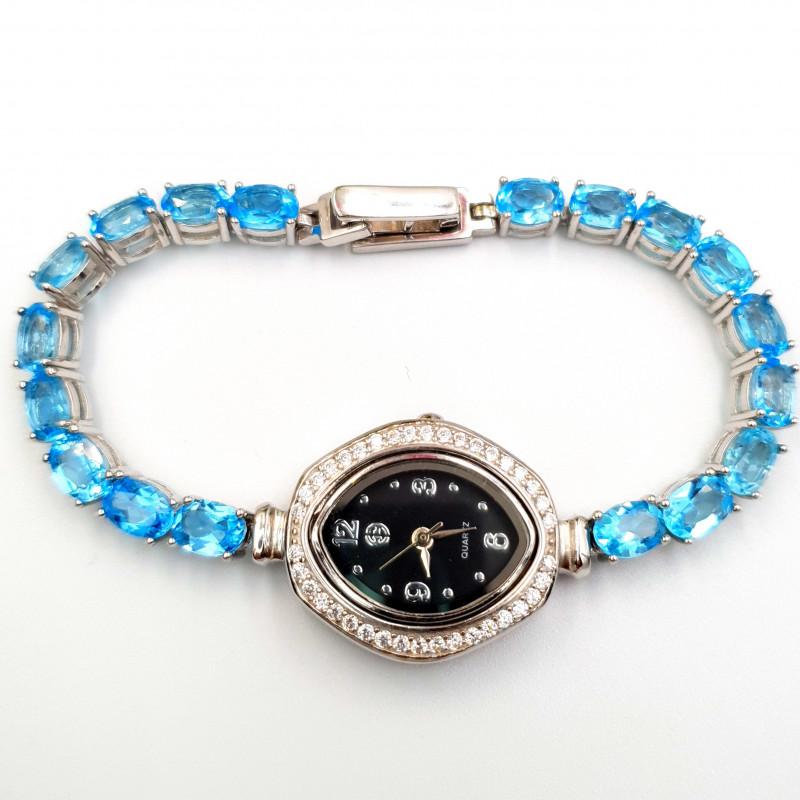 Swiss Blue Topaz Lovely Watch