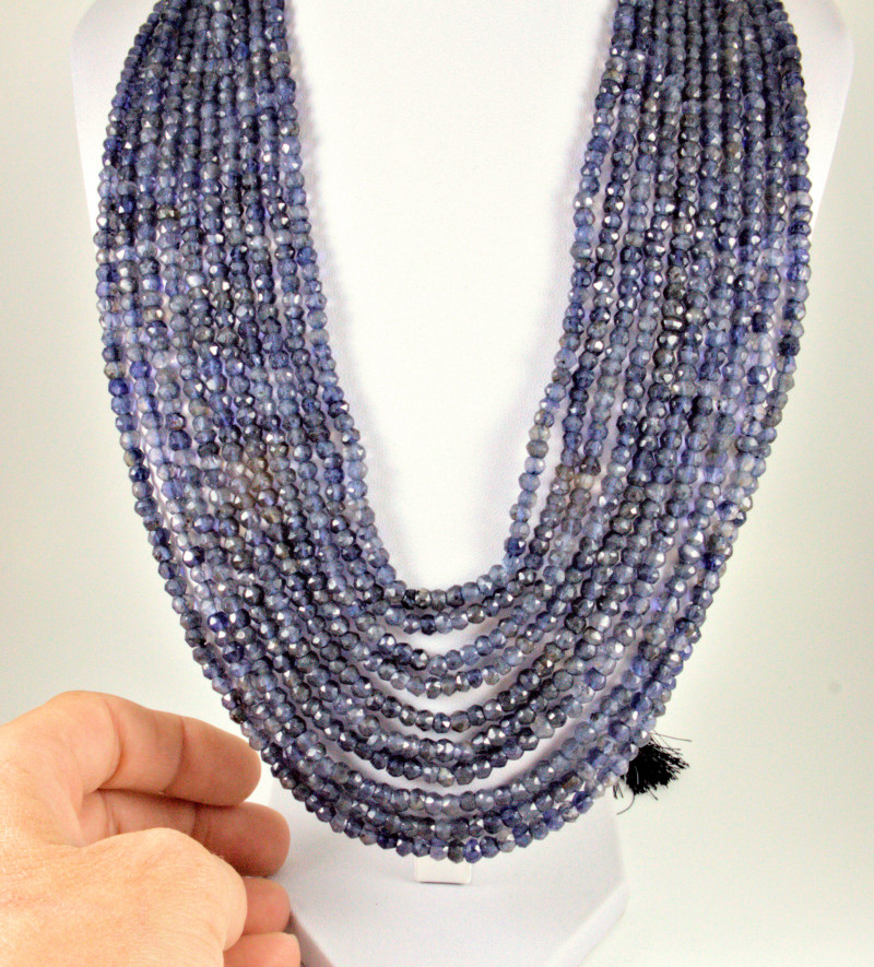 766.0 Tcw. Ten Strand Faceted Sapphire Necklace - Gorgeous