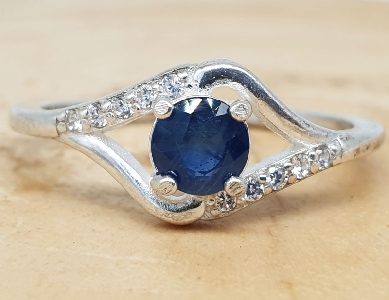 Blue Sapphire Ring   Women Ring   925 Silver Ring   Natural Sapphire Ring