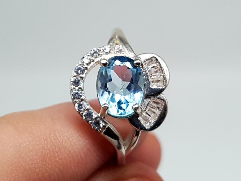 Topaz Ring   Women Ring   925 Silver Ring   Natural Topaz Ring