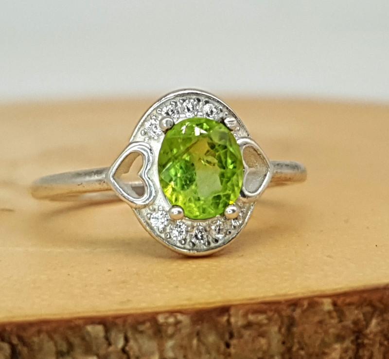 Peridot Ring | Women Ring | 925 Silver Ring | Natural Peridot Ring