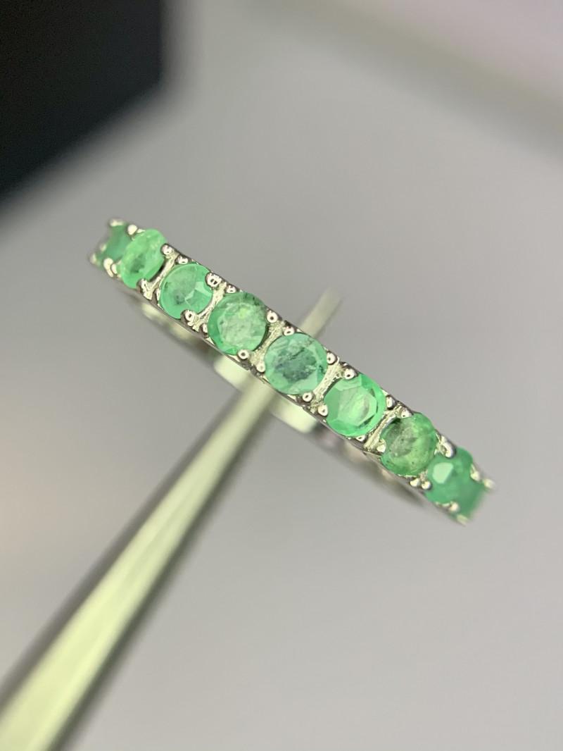 Natural emerald band.