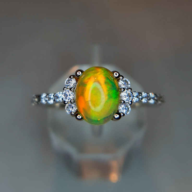 Wole Fire Natural Opal Ring
