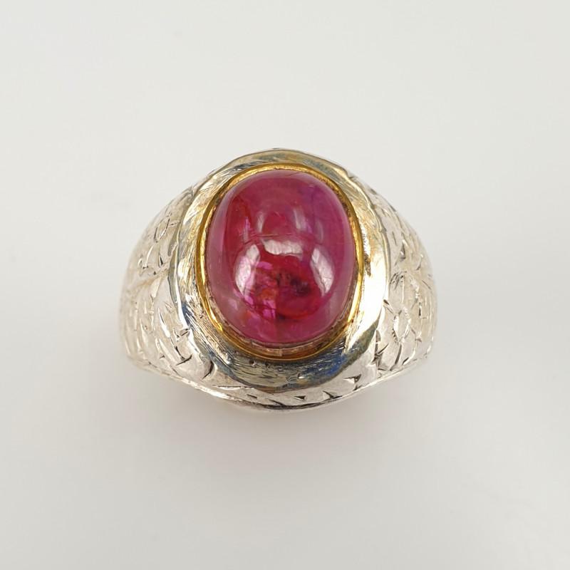 Natural Ruby Cab Ring