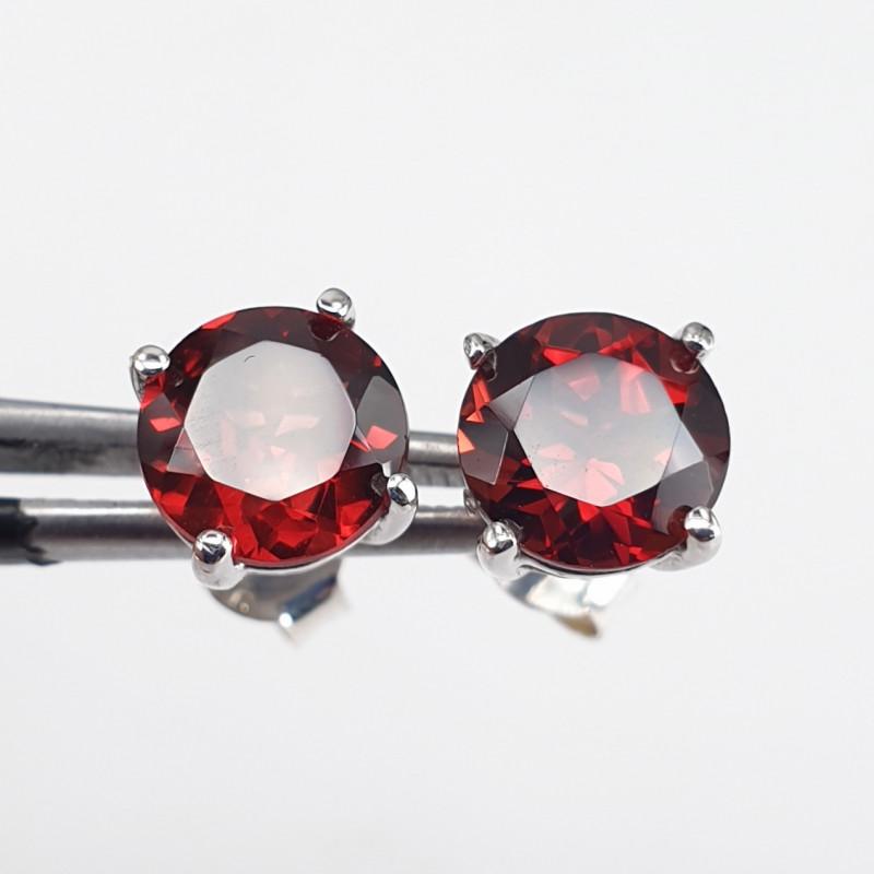 Natural Garnet Earrings
