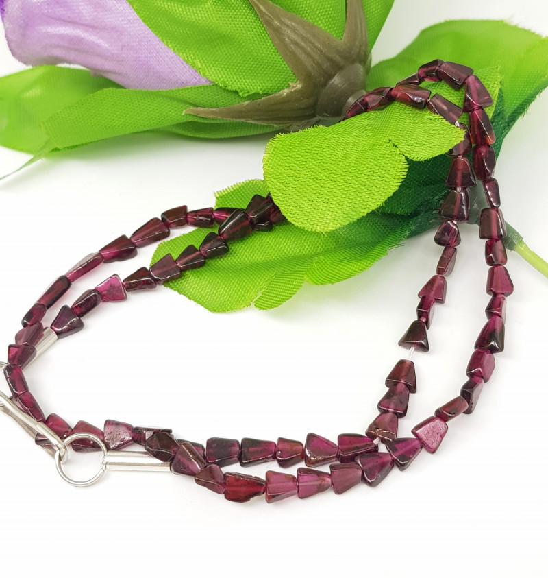 Natural Rhodolite Garnet 71.00 Carats Necklace