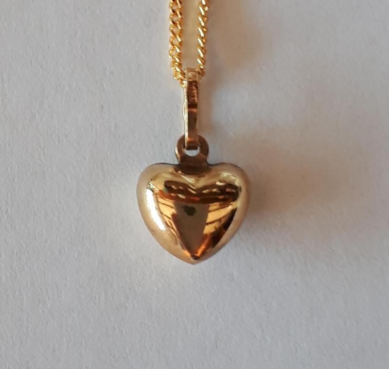 PUFF HEART 9K Gold Pendant  Code 1910008_2
