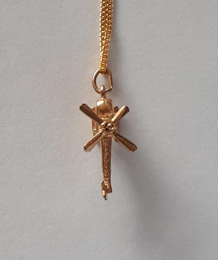 HELICOPTER 9K Gold Pendant  Code 1910019_2