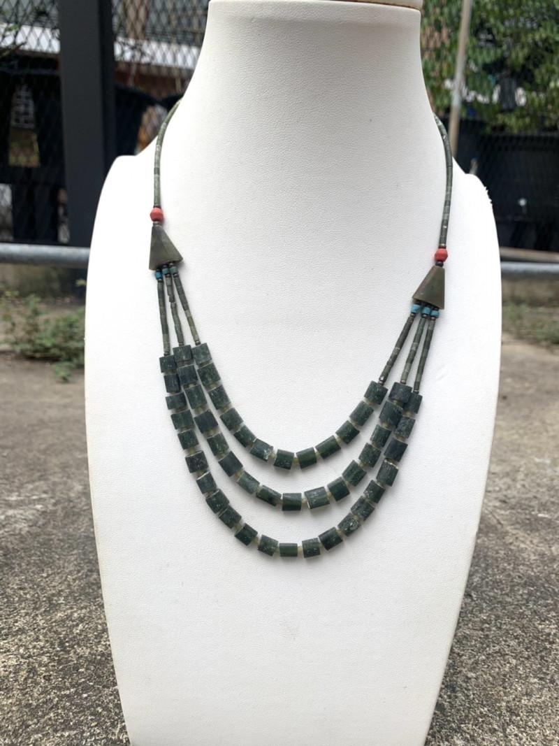 Beautiful Natural Burmese Jade Necklace. Jd-59310
