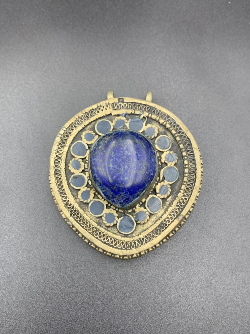 Beautiful Heavy Afghani Trible  Lapis Lazuli Handmade Pendant. Lp-582