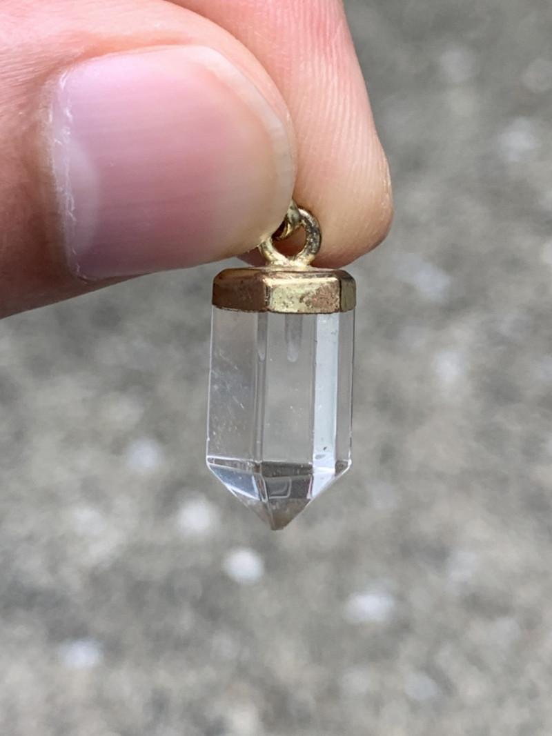 Beautiful Natural Clear Quartz Pendant. Cq-5943