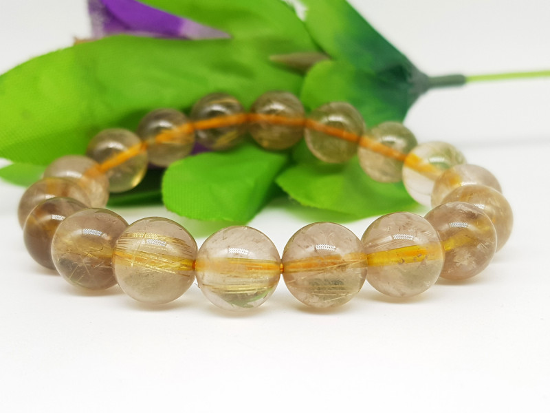 Natural Rutile Quartz Bracelet 185.00 Carats