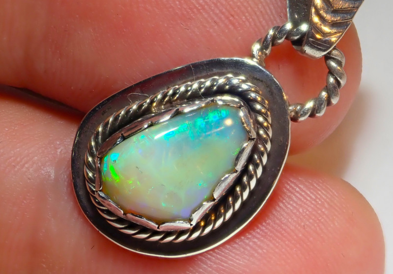 15.77ct Natural Ethiopian Welo Opal .925 Sterling Silver