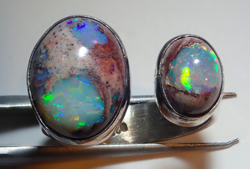 7.75size Natural Mexican Opal .925 Sterling Silver